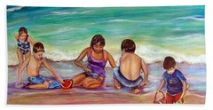 Beach Sheet featuring the painting The Grands by Patricia Piffath