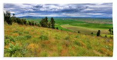 The Grasses Of Kamiak Butte Beach Towel