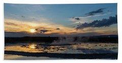 The Great Fountain Geyser Beach Towel