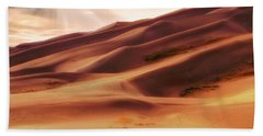 Beach Towel featuring the photograph The Great Sand Dunes Of Colorado - Landscape - Sunset by Jason Politte