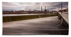 The Great Stone Dam Lawrence, Massachusetts Beach Towel