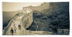 Beach Towel featuring the photograph The Great Wall Of China by Heiko Koehrer-Wagner