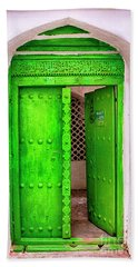 The Green Door Beach Towel