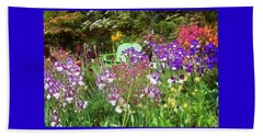 Beach Towel featuring the photograph Hiding In The Garden by Thom Zehrfeld