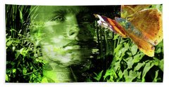 Beach Towel featuring the photograph The Green Man by LemonArt Photography