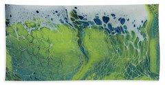The Green Tides Beach Towel