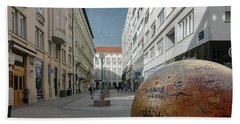 The Grounded Sun Zagreb Beach Towel by Steven Richman