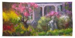 The Guardian - Plein Air Lilac Garden Beach Towel