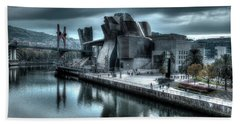 The Guggenheim Museum Bilbao Surreal Beach Towel