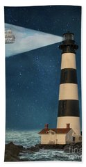 Beach Towel featuring the photograph The Guiding Light by Juli Scalzi
