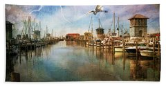 The Gulfport Egret Beach Towel