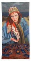 The Gypsy Fortune Teller Beach Sheet
