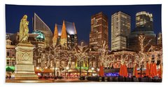 Beach Towel featuring the photograph The Hague Skyline From The Plein by Barry O Carroll