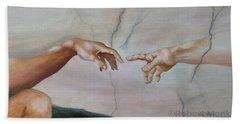 The Hand Of God Beach Towel