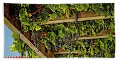The Hanging Grapes Beach Towel