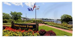 The Harbor Island Park In Mamarineck, Westchester County Beach Sheet