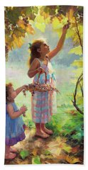 Beach Towel featuring the painting The Harvesters by Steve Henderson