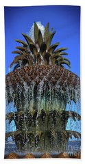 The Head Of The Pineapple Beach Sheet by Skip Willits