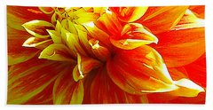 The Heart Of A Dahlia #2 Beach Towel