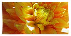 The Heart Of A Dahlia Beach Towel