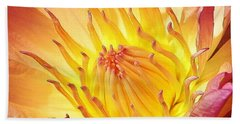 The Heart Of A Water Lily Beach Towel
