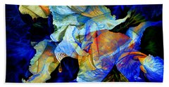 Beach Towel featuring the painting The Heart Of My Garden by Hanne Lore Koehler