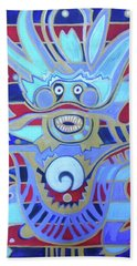 Beach Towel featuring the painting The Heavenly Dragon Of Creativity by Denise Weaver Ross