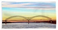The Hernando De Soto Bridge Beach Sheet