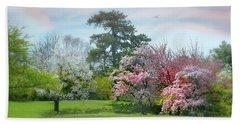 Beach Towel featuring the photograph The Hidden Garden by Diana Angstadt