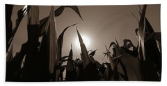 The Hiding Sun - Sepia Beach Towel