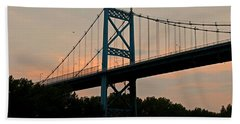 The High Level Aka Anthony Wayne Bridge I Beach Sheet by Michiale Schneider