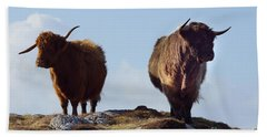 The Highland Cows Beach Towel