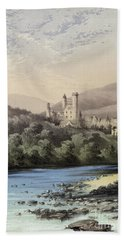 The Highland Home, Balmoral Castle Beach Towel by English School