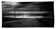 Beach Towel featuring the photograph The Highway by Dan Jurak