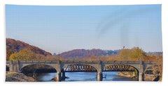 The Hill To Hill Bridge - Bethlehem Pa Beach Towel