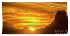 The Hills Of Arizona At Sunset Beach Towel