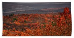 The Hills To High Point Beach Towel
