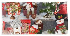 The Holiday Snowman Party Beach Towel