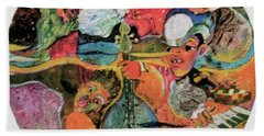 The Holland Jazz Trio Beach Towel by Lee Ransaw