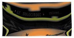 Beach Towel featuring the digital art The Holocircus Presents... by Kevin McLaughlin