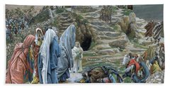The Holy Women Stand Far Off Beholding What Is Done Beach Towel