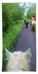 The Horse Ride Beach Towel