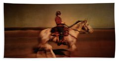 The Horse Rider Beach Towel