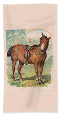 The Horse Victorian Chromolithograph Beach Towel