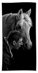 The Horse Whisperer Extraordinaire Beach Towel