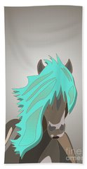 The Horse With The Turquoise Mane Beach Sheet