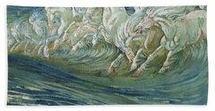 The Horses Of Neptune Beach Towel