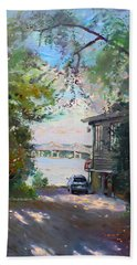 The House By The River Beach Towel