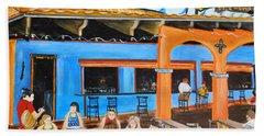 The Hub Baja Grill On Siesta Key Beach Towel by Lloyd Dobson