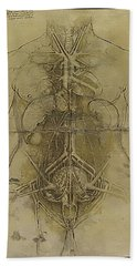Beach Sheet featuring the painting The Human Organ System by James Christopher Hill